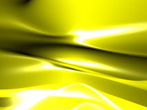 Glossy yellow abstract background. With folds Stock Photo