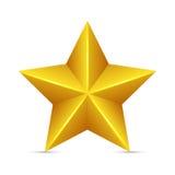 Glossy Yellow Star Stock Image