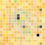 Glossy yellow tile mosaic Stock Image