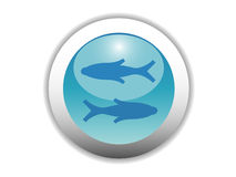 Glossy Zodiac Button Icon Royalty Free Stock Photo