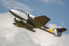 Gloster Meteor vintage jet. Fighter. First British jet fighter Stock Image