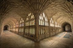 Gloucester Cathedral Cloisters Royalty Free Stock Photography