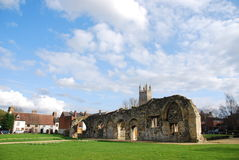 Gloucester church ruins. Beautiful St Oswald's Priory church ruins in Gloucester, England (UK stock photos