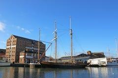 Gloucester Dock. Tall ship in Gloucester Docks Stock Photos