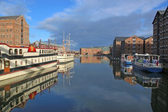 Gloucester Docks. Boats moored in Gloucester Docks Royalty Free Stock Photos