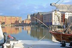 Gloucester Docks. Boats moored in Gloucester Docks Royalty Free Stock Photos