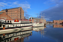 Gloucester Docks. Paddle boat in Gloucester Docks Royalty Free Stock Images
