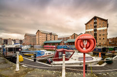 Gloucester Docks at sunset Royalty Free Stock Image