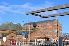 Gloucester Docks. Victorian Warehouses in Gloucester Docks Stock Photo