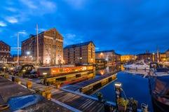 Gloucester doki przy półmrokiem zdjęcie stock