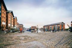 Gloucester doki przy zmierzchem zdjęcie royalty free