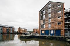 Gloucester doki przy zmierzchem obrazy stock
