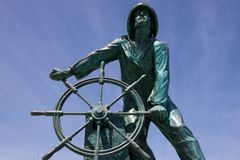 Gloucester Fisherman's Memorial (Gloucester, Massachusetts, USA / June 7, 2015). Front view of the Fisherman's Memorial in Gloucester (Massachusetts) royalty free stock photos