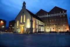 Gloucester-Kais in der Nacht Stockfoto