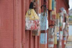 Gloucester, MA wioska rybacka Zdjęcia Royalty Free