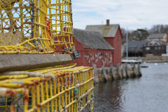 Gloucester, MA wioska rybacka Fotografia Stock