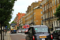 Gloucester Place traffic London city England Royalty Free Stock Photos