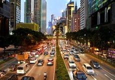 Gloucester Road, Hong Kong Stock Images