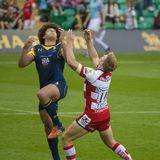 The Gloucester Rugby and Worcester Warriors at the Rugby 7 S. Premiership Series at Northampton Franklins Gardens royalty free stock images