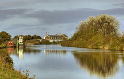 Gloucester Sharpness Canal. At Purton Royalty Free Stock Image