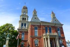 Gloucester stadshus, Massachusetts, USA fotografering för bildbyråer