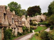 Gloucestershire - Bibury Dorf Stockfotos