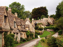 Gloucestershire cotswolds - english village. Tourist destination of Arlington Row in Bibury in Gloucestershire.  Part of the famous cotswolds and part of the Stock Photos