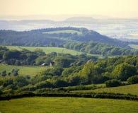 Gloucestershire de Inglaterra a floresta do decano como visto de ruardean Foto de Stock Royalty Free