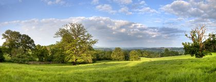 Gloucestershire Rural Panorama Royalty Free Stock Photography