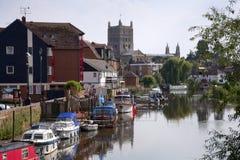 Gloucestershire - Tewkesbury pintorescos Fotografía de archivo libre de regalías