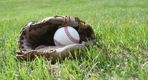 Glove & Ball Royalty Free Stock Photo