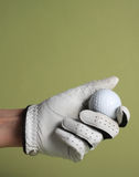 Glove and ball golf Royalty Free Stock Photos