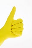 Glove of a cleaning lady Royalty Free Stock Image