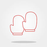 Glove cook cute icon in trendy flat style isolated on color background. Kitchenware symbol for your design, logo, UI. Vector illus Stock Image