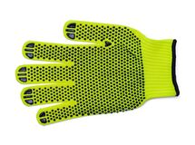 Glove with Grip. Single Fabric Bright Yellow Glove with Grip Isolated on a White Background stock photo