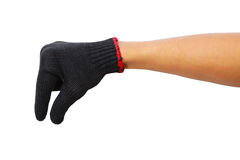Glove hand of a caucasian male to hold Stock Photography