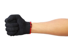 Glove hand in fist isolated Stock Photography