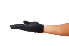 Glove hand symbol Stock Images