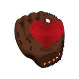 Glove heart baseball sport design Stock Image