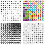 100 glove icons set variant. 100 glove icons set in 4 variant for any web design isolated on white vector illustration