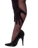 Glove and Leg. Black glove on a black stocking leg Stock Images