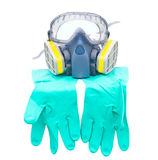 Glove mask and goggle, protective devices Stock Photography