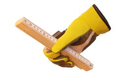 Glove and measure Stock Images