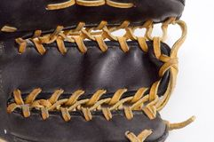Glove Pocket. The pocket area of a leather baseball glove with a different design Stock Image