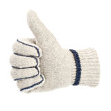 Glove showing the thumbs up sign Stock Photography