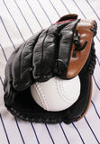 Glove and softball Stock Photography