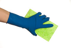 Glove and sponge Royalty Free Stock Photo