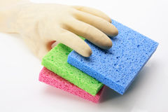 Glove and Sponges Stock Image