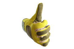 Glove and thumb Royalty Free Stock Images
