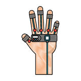 Glove video game control Royalty Free Stock Photography